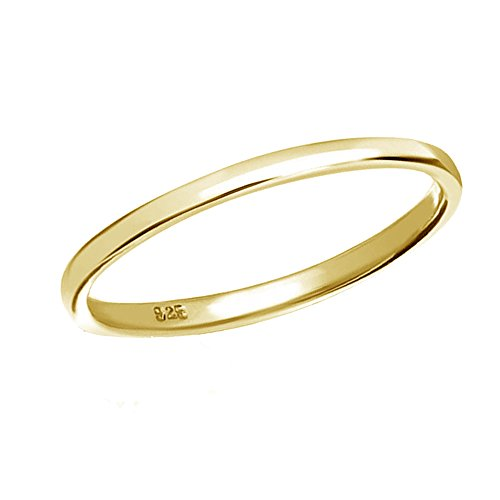 Ring Baby Gold - 14K Gold-Plated Sterling Silver Band Baby Ring