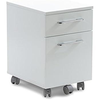 unique furniture 2 drawer mobile pedestal file cabinet white
