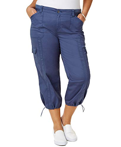 Style & Co. Plus Size Capri Cargo Pants (New Uniform Blue, 20W)