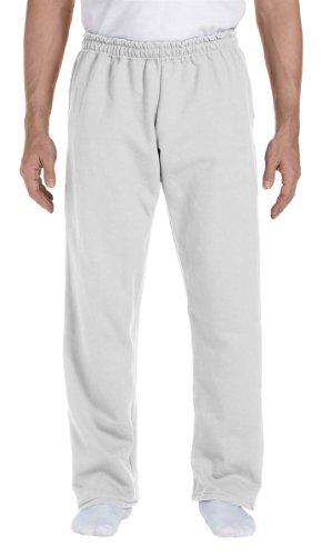 Gildan Men's Elastic Waistband Double-Needle Hem Sweatpant, Medium, Ash