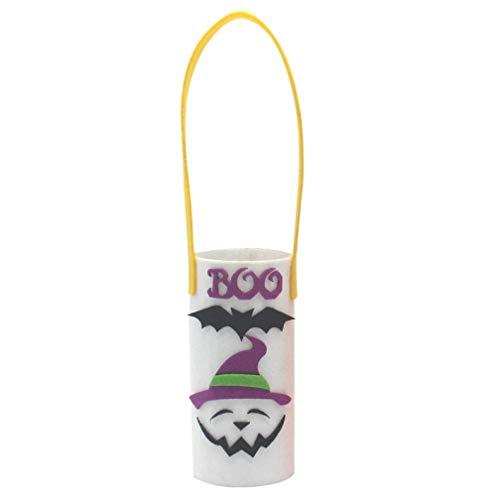 UMFun Halloween Wine Bottle Bag Figurine Candy Dessert Storage Basket Holder Home Decor (A)