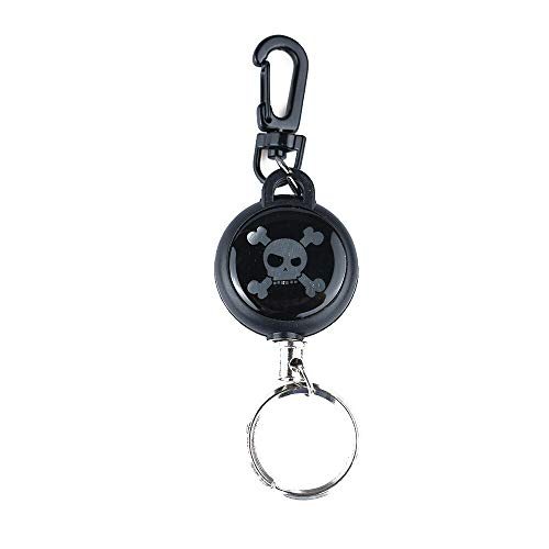 1 piece 1PC New Rebound Contractive Anti-lost EDC Outdoor Steel Rope Burglar Keychain Tactical Retractable Camping Key Ring Hand Tool ()