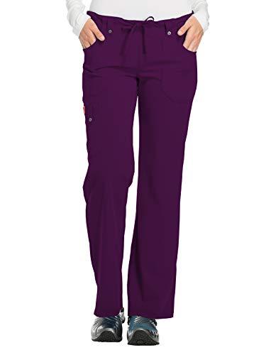 Dickies Women's Size Xtreme Stretch Fit Drawstring Flare Leg Pant, Eggplant, Medium Tall
