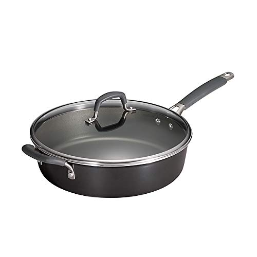 Tramontina 80151/384DS Gourmet Heavy-Gauge Nonstick Covered Deep Saute Pan, 5.5-Quart,Made in USA by Tramontina (Image #1)