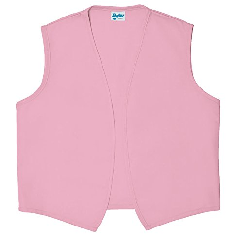Style A740NP High Quality No Pocket Unisex Uniform Vest - Pink, Medium (Pink Genie Costume)