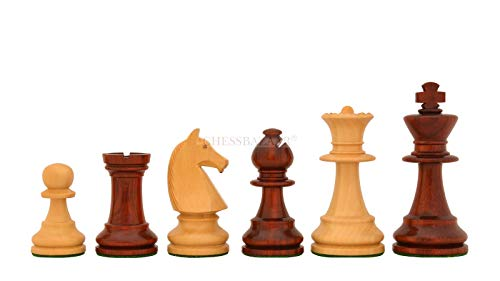 Reproduced 90s French Chavet Championship Tournament Chess Set V2.0 in Bud Rose Wood / Boxwood - 3.6