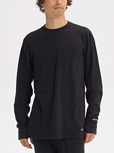 Burton Men's Midweight Crew Top, True Black, Large