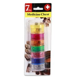 Stackable Pill Reminder (7 Day Stackable Pill Case Reminder Organizer Multi-Colored)