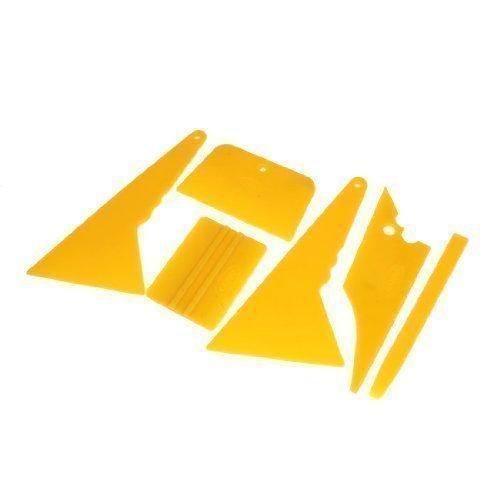 sourcingmap® 6 in 1 Glaswischer Fensterfolie wickeln Tönung Schaber Werkzeugsatz orange Auto
