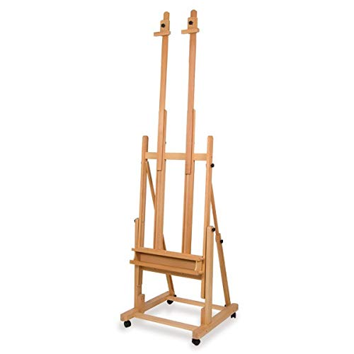 Creative Mark Saint Remy Multi-Angle Wood Studio Easel Multimedia Multi-Angle Wood Art Easel Two Independent Top Canvas Holders - [Sand Oiled Beech Wood]