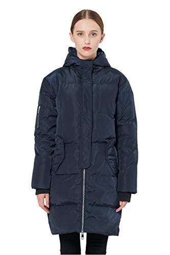 Orolay Women's Thicken Plus Size Down Jacket Hooded Coat Navy XL - Navy Unprecedented Jacket