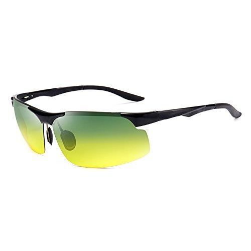 alta y Deportes de sol doble anti pesca Polarizer noche de nocturna uso de de Gafas de sol haz visión Gafas día los de de Negro sol anti a de al ULTRAVIOLETA conducción Gafas gafas Luz SSSX de hombres Gafas wpqfP8pZ