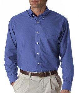 57800 Van (Van Heusen Men's Classic Long Sleeve Oxford - English Blue, 3XL)