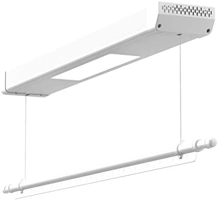ROMX Balcón Elevador Rack de Secado Rack de Secado eléctrico Secador retráctil Rack Montado en el Techo Secador de Ropa, Apartment Essentials con Control Remoto de elevación automática, LED, Blanco: Amazon.es: Hogar