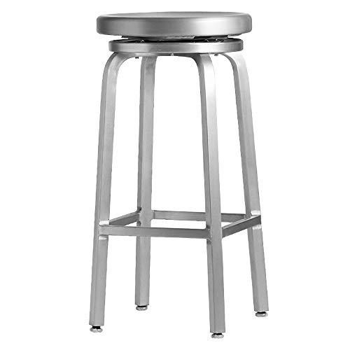 W&H Cafe Navy Taburete De Bar Silla De Bar De Metal | Taburete Alto De Aluminio Taburete Alto Europeo | Silla De Bar Minimalista Moderna | Taburete Alto Delantero 61/66 / 76cm ++ (Size : 76cm)