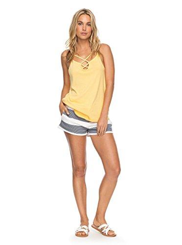 Roxy Womens Away From Today - Sweat Shorts - Women - L - White Marshmallow Dress Blue Docker L