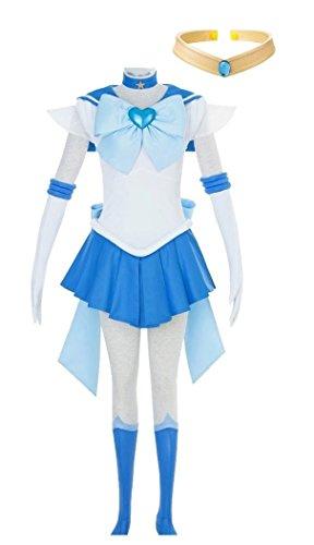 DAZCOS Adult US Size SuperS Sailor Mercury Cosplay Costume Dress (Women XL)