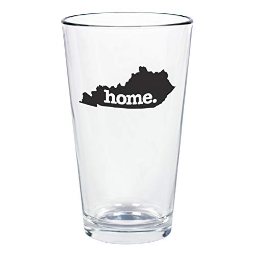 """Home State Apparel Set of 4 Kentucky""""home."""" Pint Glasses"""