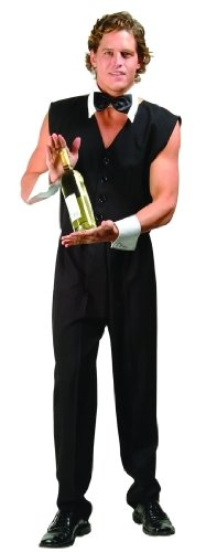 Chippendale Bartender Adult Costume Size X-Large (46-48) ()
