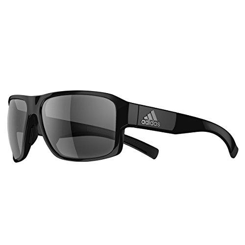 adidas Jaysor Rectangular Sunglasses, Black Shiny, 60 mm