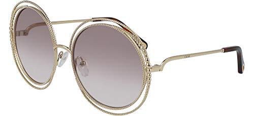 Chloé De light Chain Lunettes Femme Gold Soleil Shaded Brown Grey Ce114sc Carlina r5fWyrawqB