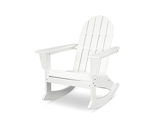 POLYWOOD Vineyard Adirondack Rocking Chair (White)