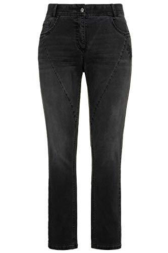 Ulla Femme 720734 Transversales CurvyDécoupes Noir Popken Tailles Grandes Pantalon TclFK1J3