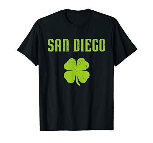 San Diego CA City Shamrock St Patricks Drunk Pride T Shirt ()