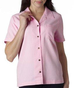 UltraClub Women's Solid Camp Shirt