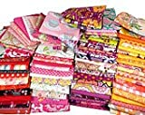100 Assorted Pre Cut Charm Pack 5'' Squares 100% Cotton Fabric Quilt