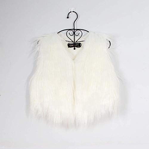 Moda Chaleco Color Party Outerwear Invierno Blanco Sin Chalecos Hipster Polares Joven Corto Sólido Mujer Piel Abrigos Mangas Coat De Elegante Termica 8fIXq