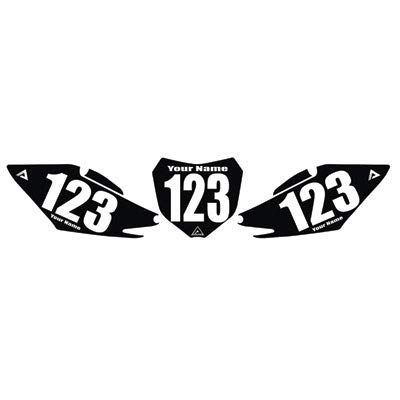 (Attack Graphics Number Plate Backgrounds - Fits: Honda CR85R 2003-2007)