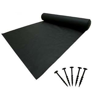Elixir - Cubierta para malas hierbas + pinzas para el suelo de jardín (2 m x 40 m + 80 pinzas de fijación)