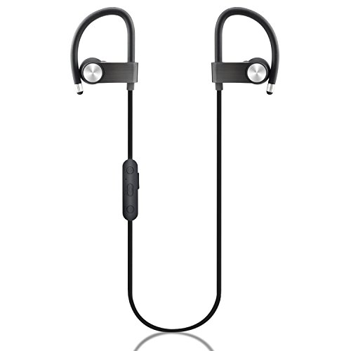 Bluetooth Headphones, Best Wirelesss Sports Earphones w/Mic IPX7 Waterproof Stereo Stable Fit In Ear Cordless Earbuds Sweatproof Noise Isolating Headset, 9 Hour Battery for Running Workout Gym