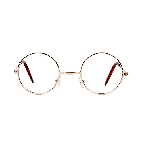 Gravity Shades Gold Circle Frame Clear Lens - Shades Ozzy