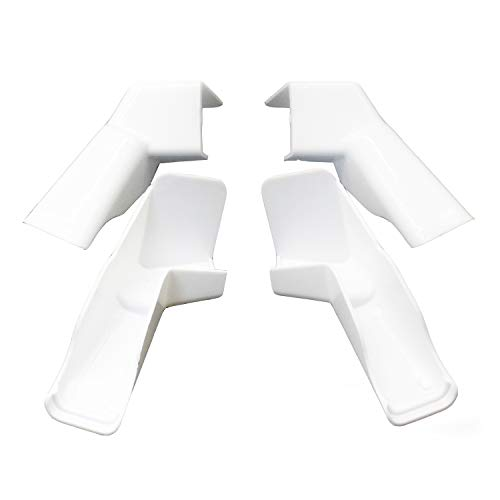 X-Haibei 4 Pack RV Rain Gutter Spouts Extensions White, Directs Rainwater Away from Sides of RV, 2 Left 2 Right 3 1/2 inch Gutter Spouts