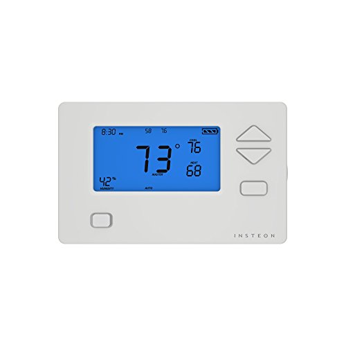Insteon Smart Wireless Companion Thermostat, Uses Superior Mesh Wireless Technology for Unbeatable Reliability - Better than Wi-Fi, Zigbee & Z-Wave