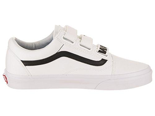 Unisex Vans Old Skool V (uit De Muur) Skateschoen Echt Wit