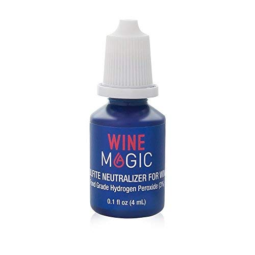 Wine Sulfite Remover by Wine Magic - Wine Purifier Drops (For Red & White Wine and Any Alcohol Containing Sulfites) - Perfect Alternative to a Wine Sulfite Filter