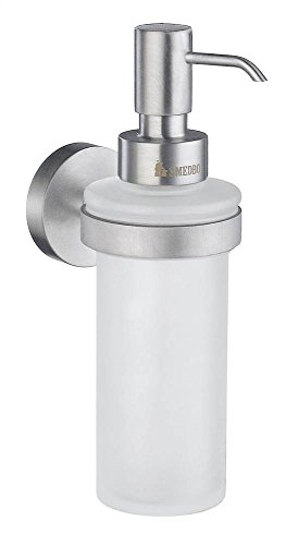 - Home Holder with Soap Dispenser Finish: Brushed Chrome