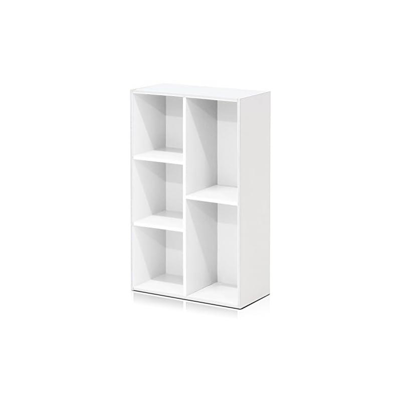 Furinno 5-Cube Open Shelf, White 11069WH
