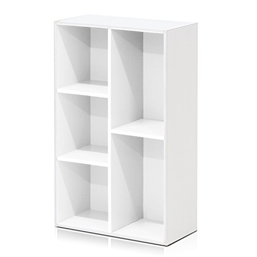 - Furinno 5-Cube Open Shelf, White 11069WH