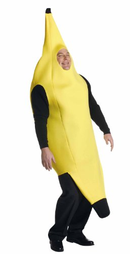 Deluxe Banana Costume, Yellow, Plus Size