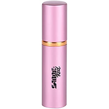 SABRE Red Lipstick Pepper Spray - Police Strength - Discreet, Pink, 10 Bursts & 10-Foot (3M) Range