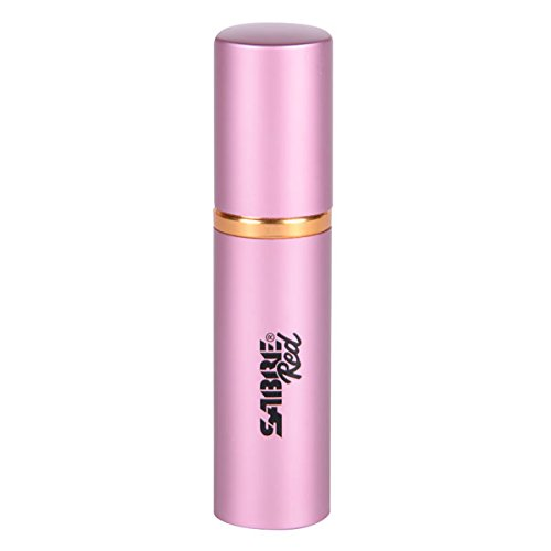 (SABRE RED Lipstick Pepper Spray for Women - Pink, Maximum Police Strength Pepper Spray with UV Dye, Easy to Use, Compact and Discreet, Cap Prevents Accidents, 10-Foot (3M) Range, 12 Powerful Bursts)