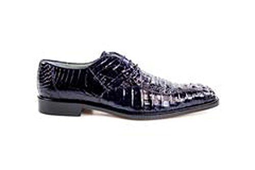 Belvedere Chapo Genuine Hornback Crocodile Oxford Shoe 10 Navy ()