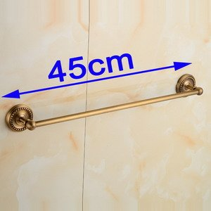 LOVELY Antique Brass Bathroom Towel Holder Single Towel Bar Towel Rack Solid Brass Towel Rack 30/40/45/50/60Cm L is 45 cm