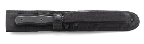 CRKT Sangrador Fixed Blade Knife with Sheath: Forged by War, Dual Edge, Serrated, Veff Serrations, Black Powder Coat Finish, G10 Handle, Molle Compatible Sheath 2080 by Columbia River Knife & Tool (Image #8)