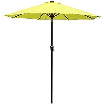 Patio Umbrella, 9u0027 Outdoor Table Market Umbrella With Push Button  Tilt/Crank,