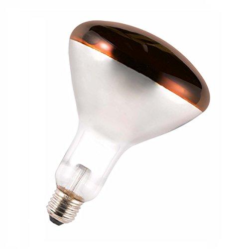 GE LIGHTING 250w Infrared Reflector Hardglass ES Ruby (GE 91391) [EU Specification: 220-240v]